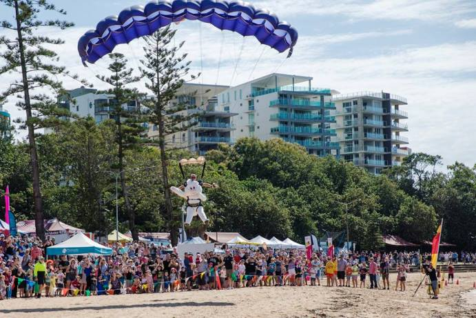 Redcliffe's skydiving bunny